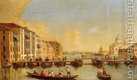 View Of The Grand Canal And Santa Maria Della Salute, Venice by Johann Richter - Reproduction Oil Painting