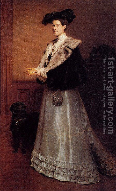 Portrait Of A Lady by Edouard De Jans - Reproduction Oil Painting