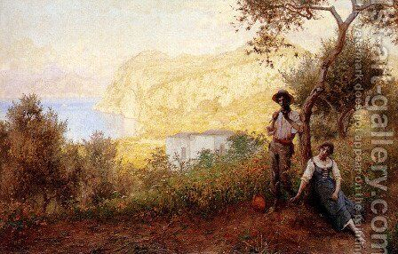 A Capri Pastoral by Martin Gwilt-Jolley - Reproduction Oil Painting