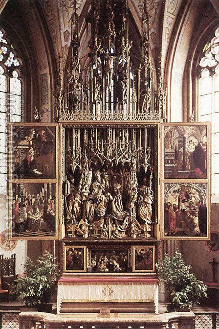 St Wolfgang Altarpiece by Michael Pacher - Reproduction Oil Painting