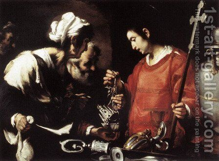 The Charity of St Lawrence by Bernardo Strozzi - Reproduction Oil Painting