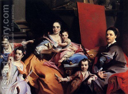 Self-Portrait With The Family by Carlo Innocenzo Carloni - Reproduction Oil Painting