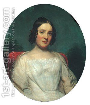Mrs. Adrian Baucker Holmes by Charles Wesley Jarvis - Reproduction Oil Painting