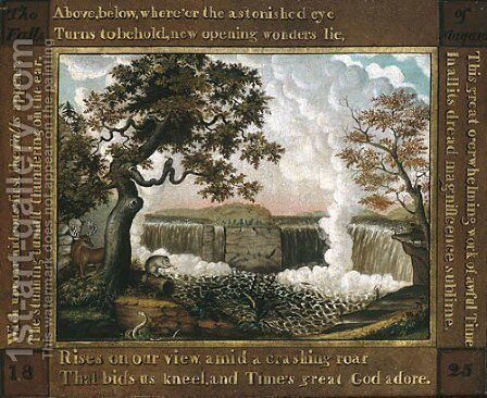 The Falls of Niagara by Edward Hicks - Reproduction Oil Painting