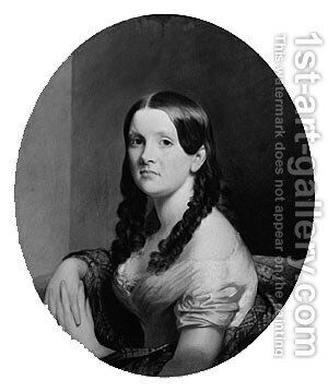 Mrs. Francis Stanton Blake by Chester Harding - Reproduction Oil Painting