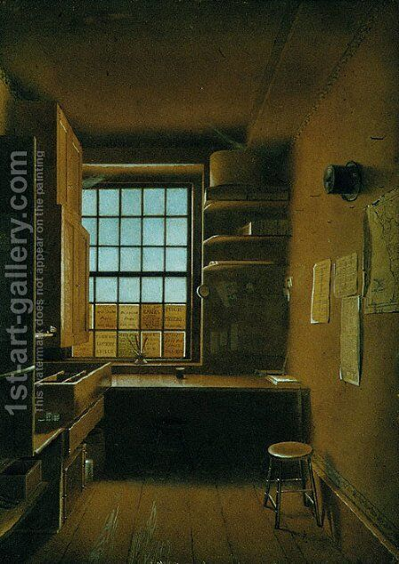 Interior of a Lottery by James Kidder - Reproduction Oil Painting