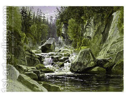 On the Ausable by James David Smillie - Reproduction Oil Painting