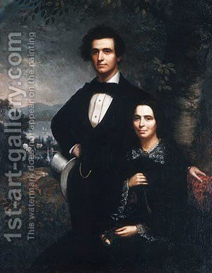 Mr. and Mrs. Daniel T. MacFarlan by Theodore E. Pine - Reproduction Oil Painting