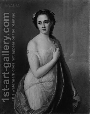 Thalia by Giuseppe Fagnani - Reproduction Oil Painting