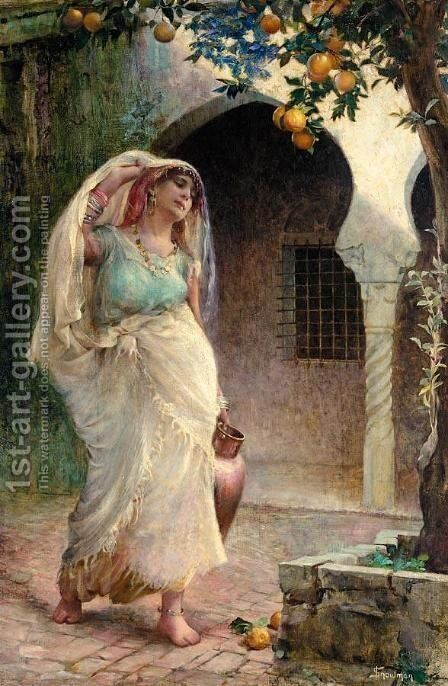 The Water Carrier by Isaac Snowman - Reproduction Oil Painting