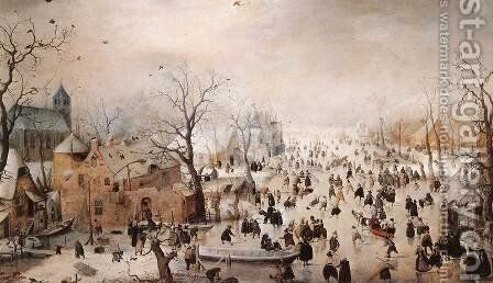 Winter by Hendrick Avercamp - Reproduction Oil Painting