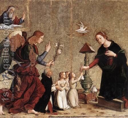 Annunciation by Antoniazzo Romano - Reproduction Oil Painting