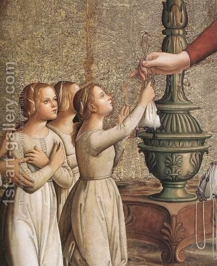Annunciation (detail) by Antoniazzo Romano - Reproduction Oil Painting