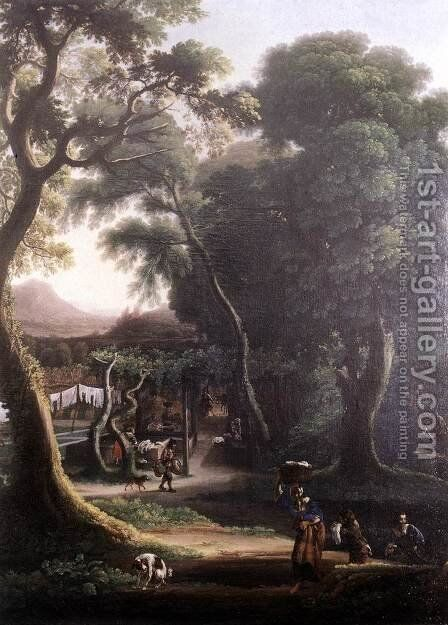 Rural Scene by Angeluccio - Reproduction Oil Painting