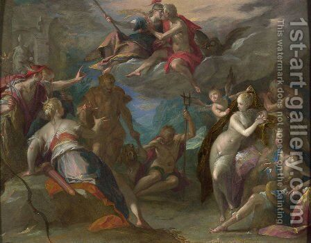 The Amazement of the Gods by Hans Von Aachen - Reproduction Oil Painting