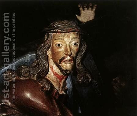 Christ Carrying the Cross by Antonio Francisco Lisboa - Reproduction Oil Painting