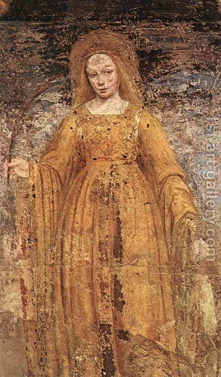St Catherine of Alexandria by Ambrogio Borgognone - Reproduction Oil Painting