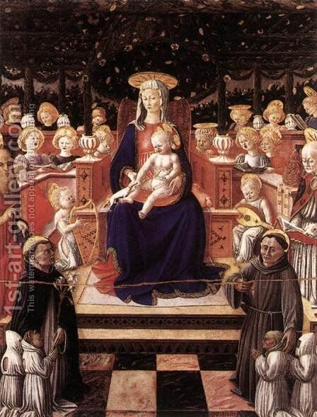 Virgin and Child with Saints by Giovanni Boccati - Reproduction Oil Painting