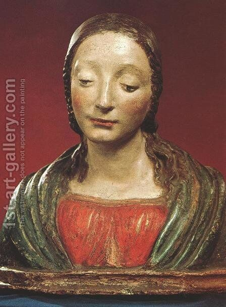 Bust of a Saint by Matteo Civitale - Reproduction Oil Painting