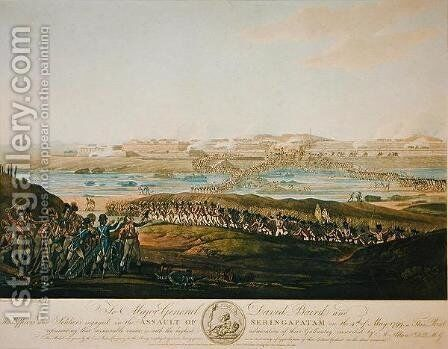The Capture of Seringapatam in 1799, 1801 by Antoine Cardon - Reproduction Oil Painting