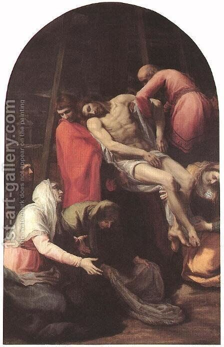 The Descent from the Cross, 1595 by Bartolome Carducci (or Carducho) - Reproduction Oil Painting