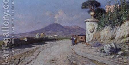 Pompeii by Giuseppe Carelli - Reproduction Oil Painting