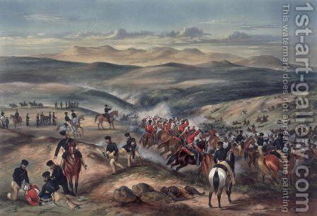 The Battle of The Gwanga, Cape of Good Hope, on 8th June 1846 by Captain Carey - Reproduction Oil Painting