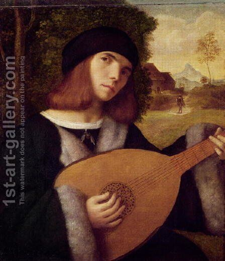 The Lute Player by Cariani - Reproduction Oil Painting