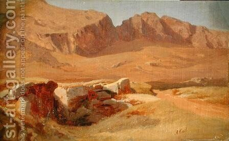 In the Sabine Mountains by Adolf Carl - Reproduction Oil Painting
