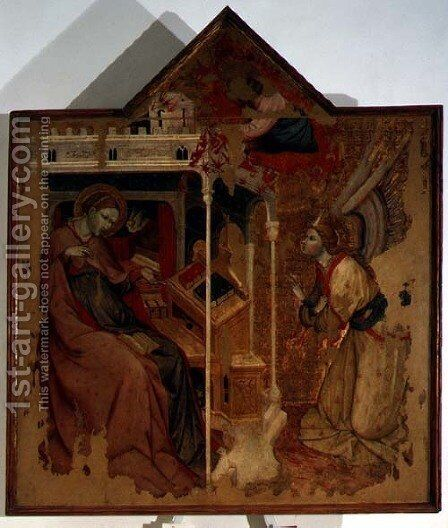 Annunciation by Carlo da Camerino - Reproduction Oil Painting
