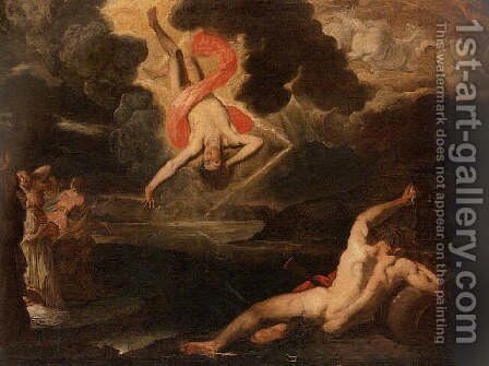 The Fall of Phaethon by Giovanni Battista Carlone - Reproduction Oil Painting