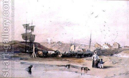 Alnmouth, Northumberland by James Wilson Carmichael - Reproduction Oil Painting