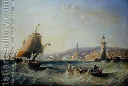 Genoa, 1862 by James Wilson Carmichael - Reproduction Oil Painting