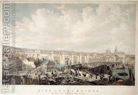 High Level Bridge, Newcastle upon Tyne by James Wilson Carmichael - Reproduction Oil Painting