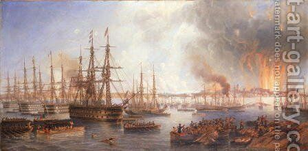 The Bombardment of Sveaborg, 5th August 1855, 1856 by James Wilson Carmichael - Reproduction Oil Painting