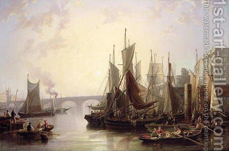 The Pool of London by James Wilson Carmichael - Reproduction Oil Painting