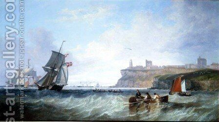 Tynemouth by James Wilson Carmichael - Reproduction Oil Painting