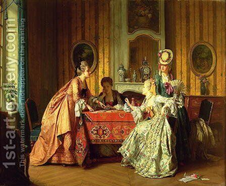 A Fair Hand, 1873 by Jean Carolus - Reproduction Oil Painting