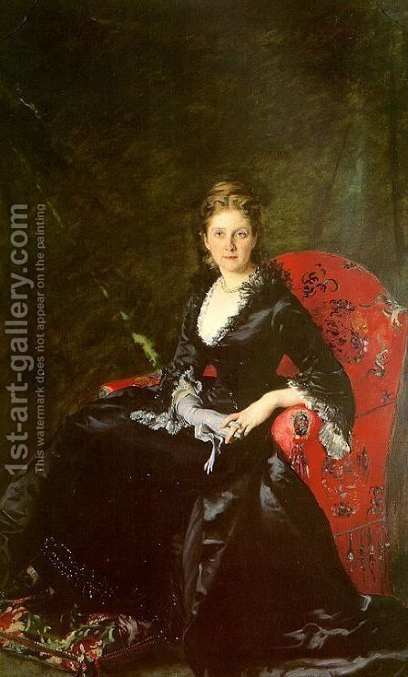 Portrait of Mme Nadezhda Polovtsova, 1876 by Carolus (Charles Auguste Emile) Duran - Reproduction Oil Painting