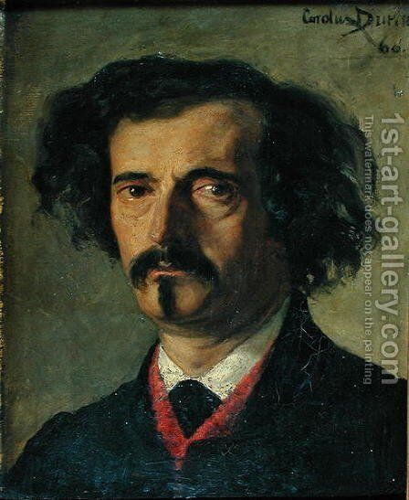 Portrait of Jules Barbey d'Aurevilly (1808-89) 1860 by Carolus (Charles Auguste Emile) Duran - Reproduction Oil Painting