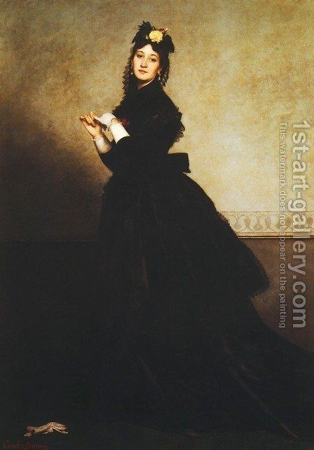 The Woman with the Glove, 1869 by Carolus (Charles Auguste Emile) Duran - Reproduction Oil Painting
