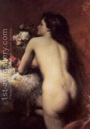 The Model, 1905 by Carolus (Charles Auguste Emile) Duran - Reproduction Oil Painting