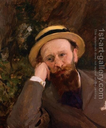 Portrait of Manet by Carolus (Charles Auguste Emile) Duran - Reproduction Oil Painting