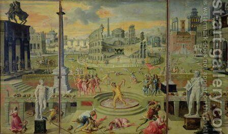 The Massacre of the Triumvirate, 1566 by Antoine Caron - Reproduction Oil Painting