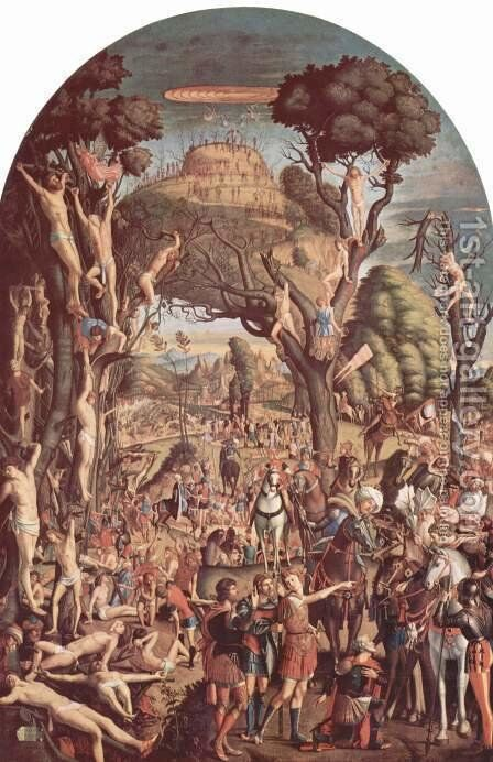 The Crucifixion and the Glorification the Ten Thousand Martyrs on Mt. Ararat by Vittore Carpaccio - Reproduction Oil Painting