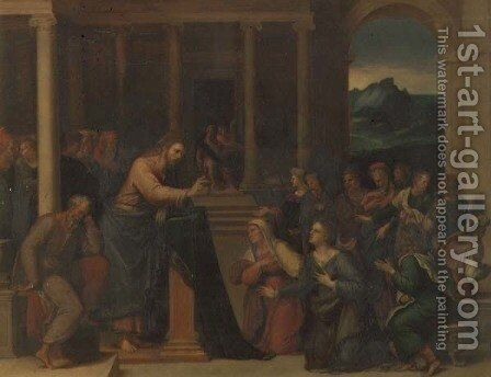 Christ in the House of Mary and Martha by Girolamo da Carpi - Reproduction Oil Painting