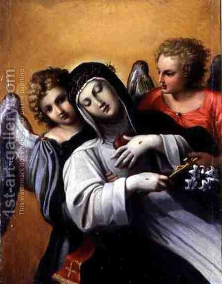 The Ecstasy of Saint Catherine by Agostino Carracci - Reproduction Oil Painting