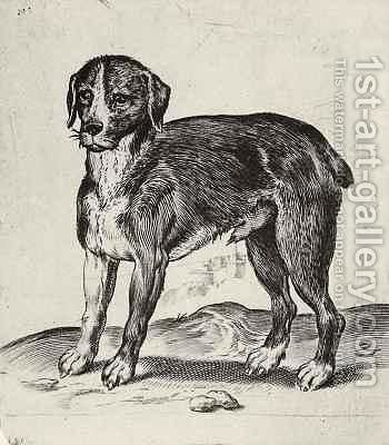 Dog by Agostino Carracci - Reproduction Oil Painting