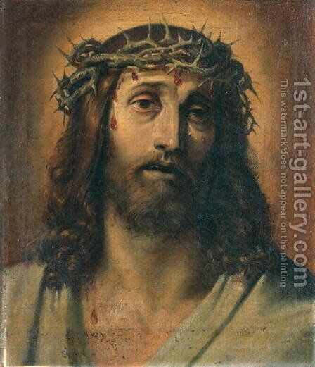 Christ crowned with thorns by Annibale Carracci - Reproduction Oil Painting