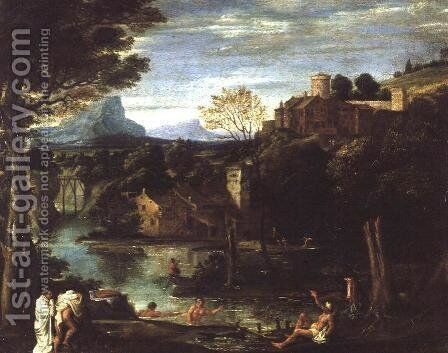 Landscape, c.1602 by Annibale Carracci - Reproduction Oil Painting